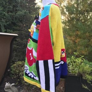 Storybook Knits Handknits Colorful Cardigan